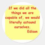Cita de Thomas Edison Etiqueta