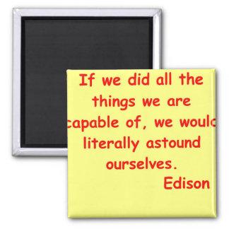 Cita de Thomas Edison Iman