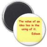 Cita de Thomas Edison Imán De Nevera