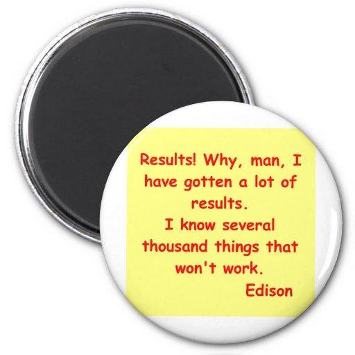 Cita de Thomas Edison Imán Redondo 5 Cm