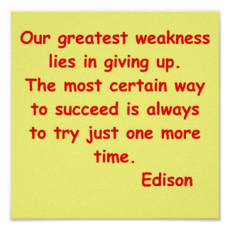 Cita de Thomas Edison Impresiones