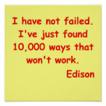 Cita de Thomas Edison Poster