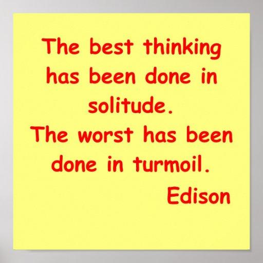 Cita de Thomas Edison Póster