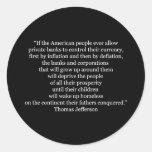 Cita de Thomas Jefferson (1) Etiqueta Redonda