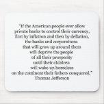 Cita de Thomas Jefferson (1) Alfombrillas De Ratones