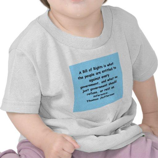 cita de Thomas Jefferson Camisetas
