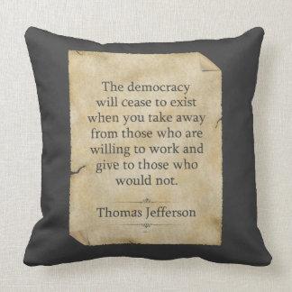 Cita de Thomas Jefferson Cojín
