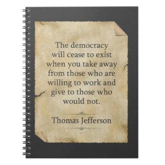 Cita de Thomas Jefferson Libretas