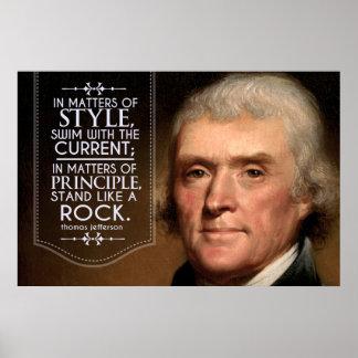 Cita de Thomas Jefferson en materias del estilo Póster