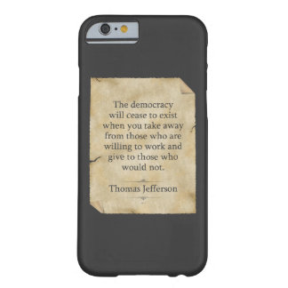 Cita de Thomas Jefferson Funda Para iPhone 6 Barely There