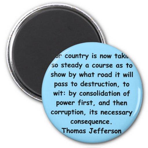 cita de Thomas Jefferson Iman Para Frigorífico