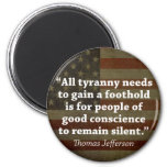 Cita de Thomas Jefferson Imán Redondo 5 Cm
