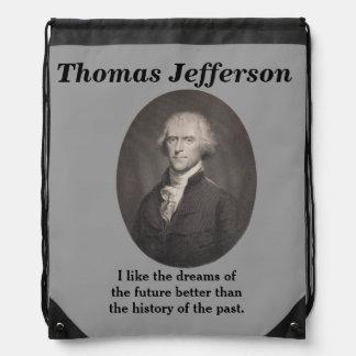 Cita de Thomas Jefferson - mochila