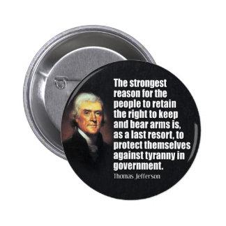 Cita de Thomas Jefferson Pins