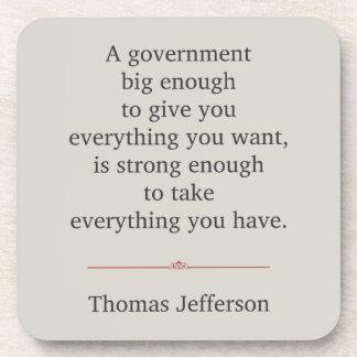 Cita de Thomas Jefferson Posavasos De Bebidas