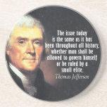 Cita de Thomas Jefferson Posavasos Diseño