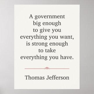 Cita de Thomas Jefferson Póster