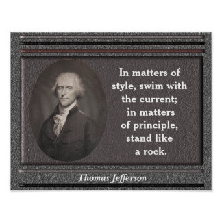Cita de Thomas Jefferson - poster