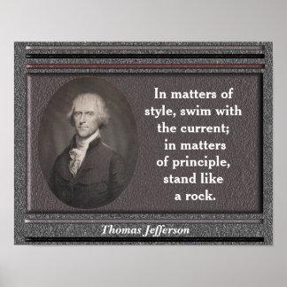 Cita de Thomas Jefferson - poster Póster