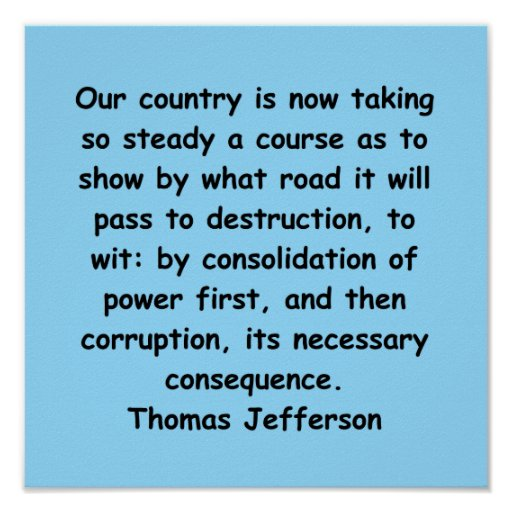 cita de Thomas Jefferson Posters