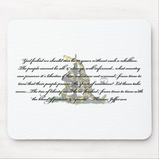 Cita de Thomas Jefferson Tapetes De Ratones