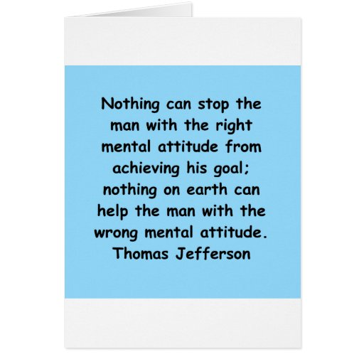 cita de Thomas Jefferson Tarjeta De Felicitación