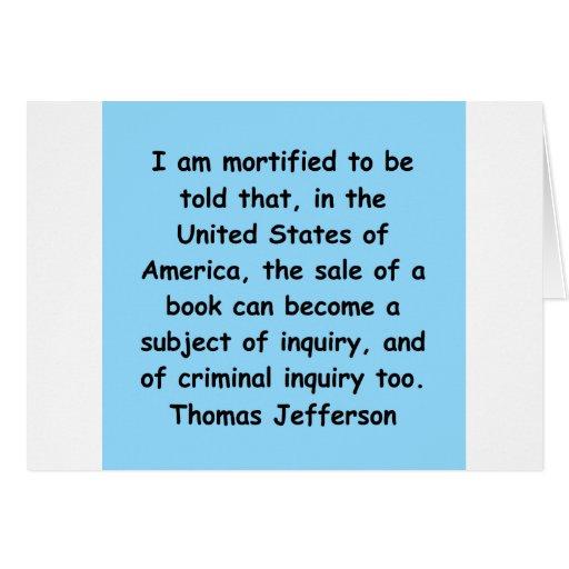 cita de Thomas Jefferson Tarjetón