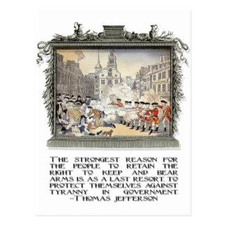 Cita de Thomas Jefferson: Tiranía en el gobierno Postal