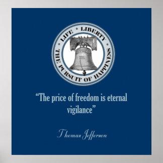 Cita de Thomas Jefferson (vigilancia) Poster