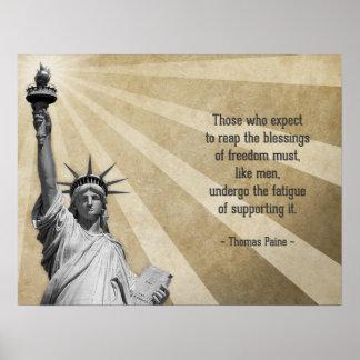 Cita de Thomas Paine Póster