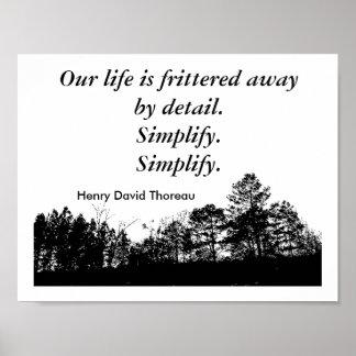 Cita de Thoreau - poster