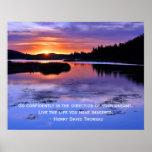 Cita de Thoreau y salida del sol de Big Bear Poster