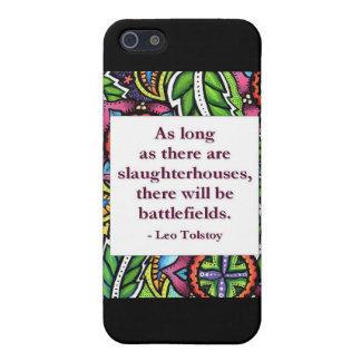 Cita de Tolstoy iPhone 5 Cárcasa