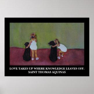 Cita de Tomás de Aquino del santo - poster