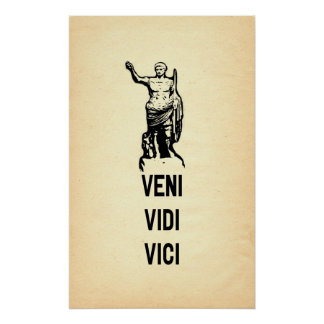 Cita de Veni Vidi Vici Julio César Póster