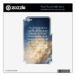 Cita de vida de John Wesley con las nubes del ciel iPod Touch 4G Skin