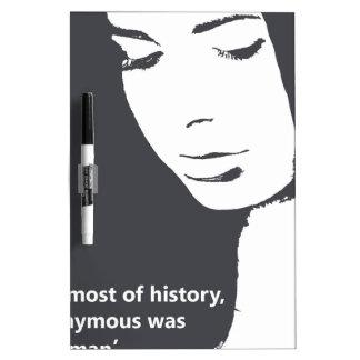 Cita de Virginia Woolf Tablero Blanco