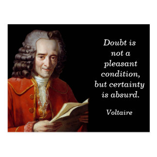Cita de Voltaire - postal
