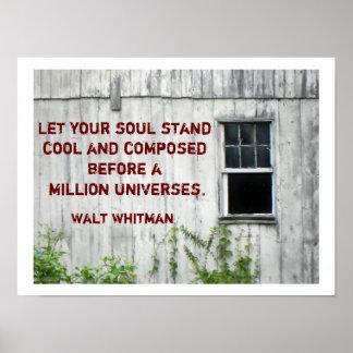 Cita de Walt Whitman - poster