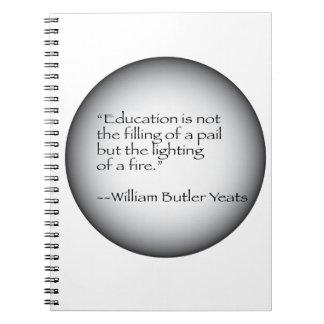 Cita de William Butler Yeats Note Book