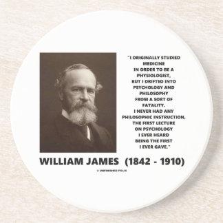 Cita de William James de la filosofía de la Posavasos Diseño