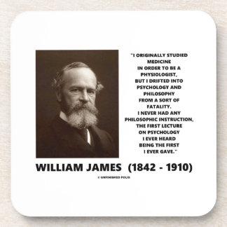 Cita de William James de la filosofía de la Posavasos De Bebida