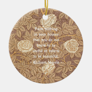 Cita de William Morris Adorno Navideño Redondo De Cerámica
