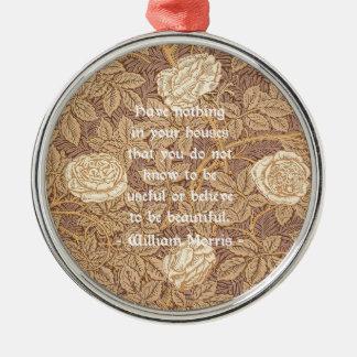 Cita de William Morris Adorno Navideño Redondo De Metal