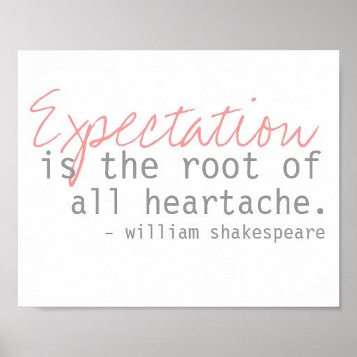 cita de William Shakespeare Póster