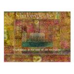 Cita de William Shakespeare sobre expectativas Postales