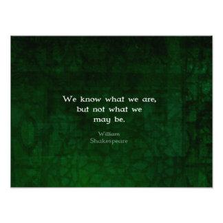 Cita de William Shakespeare sobre posibilidades Fotografias