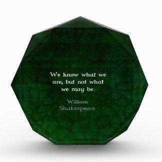 Cita de William Shakespeare sobre posibilidades