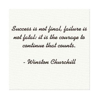 Cita de Winston Churchill Lona Estirada Galerías
