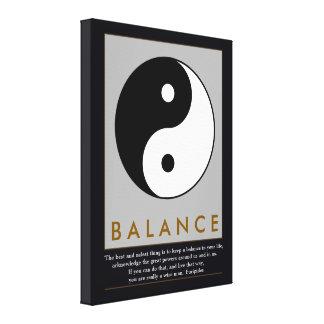 cita de yin-Yang del zen de la balanza Lona Envuelta Para Galerías